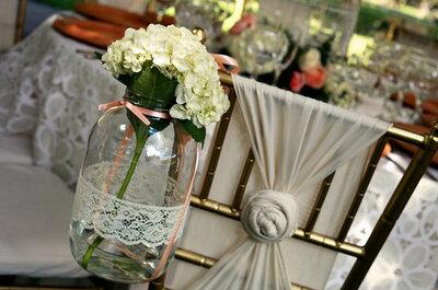 DIY: enfeites de renda em vidros para a decoração do seu casamento