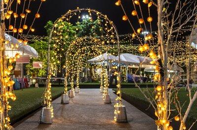 Integra la luz ámbar en la decoración de tu matrimonio y transforma lo simple en cálido y elegante
