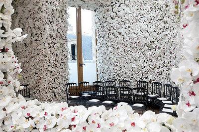 ¿Cómo se creó el escenario de flores del desfile de Dior?