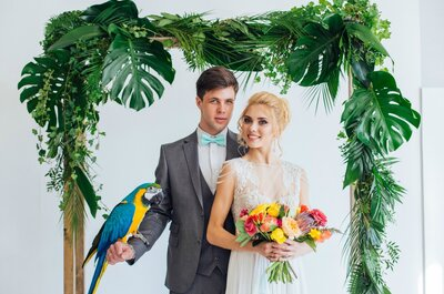 Тропическая свадьба: ярко и оригинально