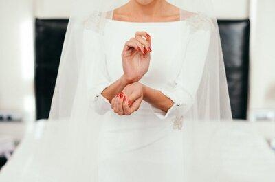 Mãos em primeiro plano: nail art das noivas 2017