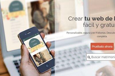 ¡Ten tu propia web para tu matrimonio, personalízala y sácale todo el provecho!