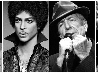 Cuatro grandes músicos que nos dejaron en 2016. ¡Disfruta de este pequeño homenaje en forma de playlist!