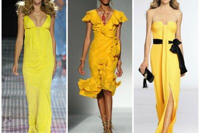 La signora in giallo. Abiti e accessori per invitate nel colore più glam dell'anno!