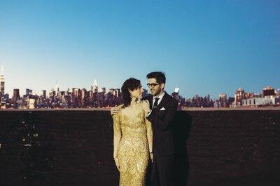 Een rustieke vintage bruiloft in een Urban Loft: Maya + Uri say I do in New York