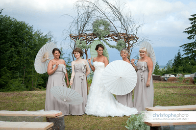 Wedding Decoration Idea: Paper Umbrellas & Parasols
