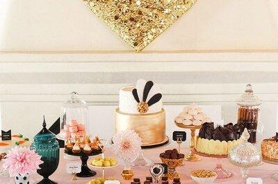 Блистайте! Как украсить свадьбу блестками?