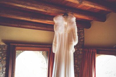 Toda una diosa griega: la preciosa boda invernal de Laia y Luis
