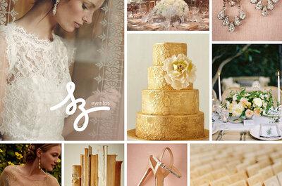 Decoración para una boda romántica: Encaje y color dorado como aliados perfectos para el gran día