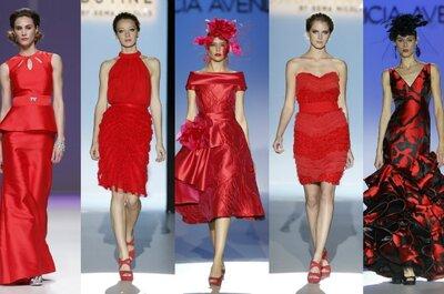 Vestidos rojos para coctel y boda 2013