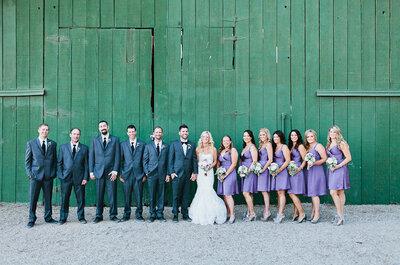 Detalles y decoración en color violeta para bodas 2013
