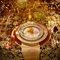 Vajilla y decoración en color dorado estilo de Beyonc
