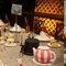 Idea para el postre: la mesa se convierte en una auténtica fiesta del te en el País de las Maravillas