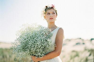 En blanco: bodas con siemprevivas