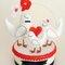 Cake topper Lovebird by Ana Jordão. Foto: Pinga Amor