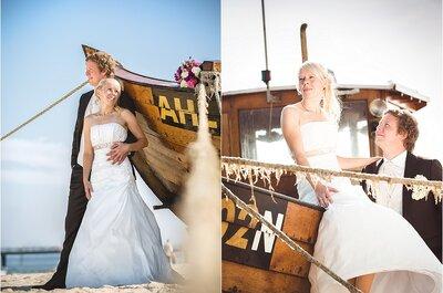 Real Wedding: Die maritime Hochzeit von Maria und Markus