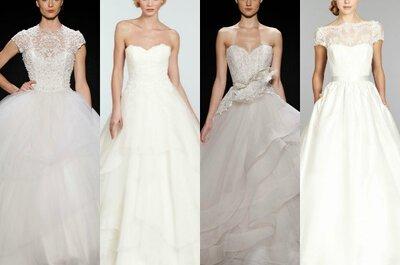Los 5 vestidos de novia que necesitas conocer, sea cual sea tu figura