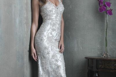 Tendencias en vestidos de novia con pedrería para 2015