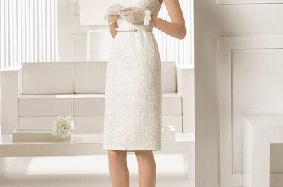 Noivas de vestido curto: atrevidas e seguras com as pernas à mostra
