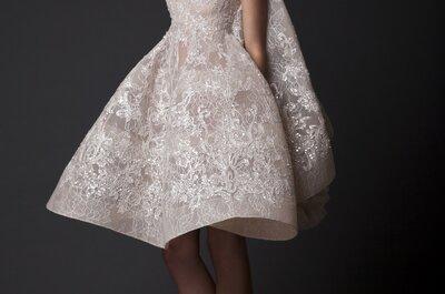 Krikor Jabotian: Preciosos vestidos de novia con volúmenes, líneas increíbles y cortes contemporáneos