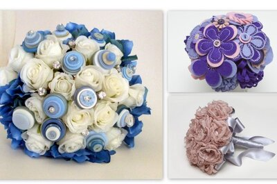 Ramos de boda sin flores: una tendencia que encanta a las novias para 2013