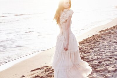 Zwiewne suknie ślubne 2013 projektu Leila Hafzis