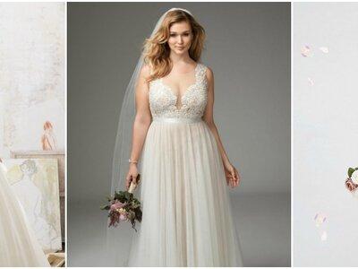 Vestidos de novia talla grande 2017: ¡las mejores tendencias para tu gran día!
