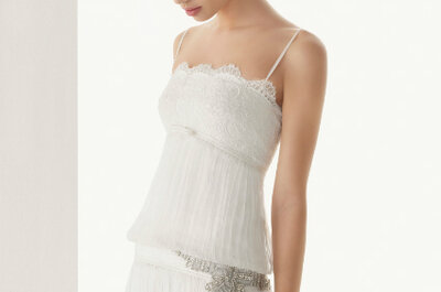 Vestidos de noiva com cinto-jóia: cinturas cintilantes