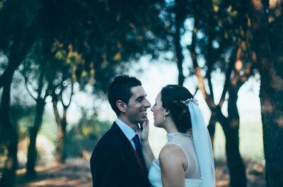 Solté el mundo para coger tu mano: la boda de Raquel y Abraham