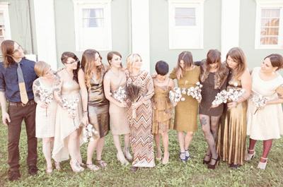 Una boda diferente con un estilo hippie vintage al aire libre