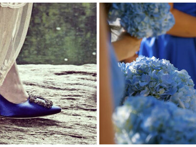 El toque azul que necesitas para el día de tu boda