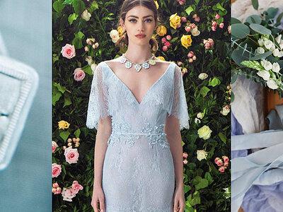Las novias modernas se lucen con toques en azul. ¡Descubre cómo llevar el nuevo look de la semana!