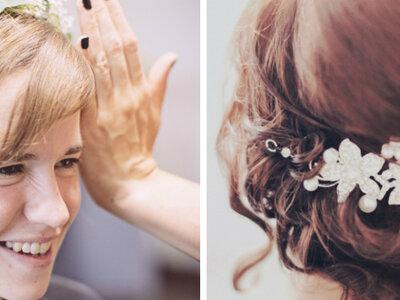 Peinado ideal y simple para tu boda.  ¿Por qué no hacerlo tú misma?