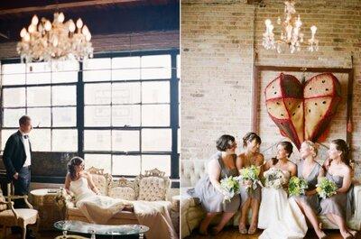 Una idea Zankyou: un matrimonio decorado con corazones