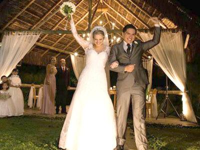 Natália & Bruno: casamento ao ar livre uniu o rústico ao clássico numa noite mágica!