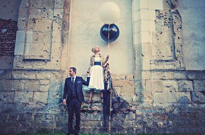 Le mariage rock, fun et pétillant dans une ancienne abbaye du nord de la France de Julie + Damien