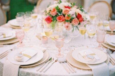 ¿Ya sabes cómo debe ser tu banquete de bodas? ¡Seis consejos para no fallar!