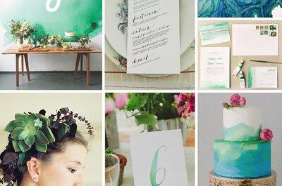 Cómo decorar una boda inspirada en acuarela: Suaves pinceladas de estilo para el gran día