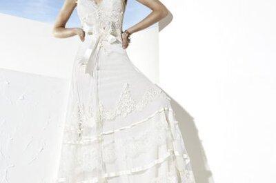 Vestidos de novia hippie chic 2014