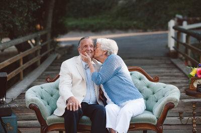 Así luce el amor después de 61 años de casados: Enamórate de esta sesión de amor perfecta