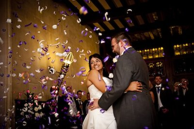 Paddy and Tom's Cadbury Purple-themed wedding