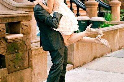 Echte Bräute in kurzen Brautkleidern