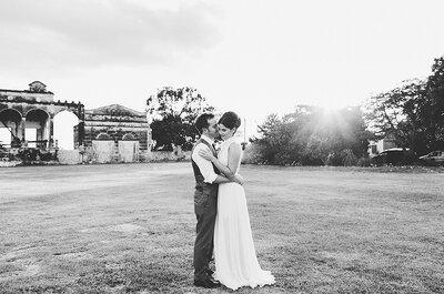 El vestido de novia más chic y paisajes de ensueño: La boda de Ale y Joaquín en Yucatán