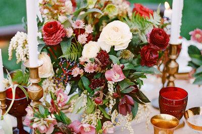 Las combinaciones de colores más bonitas y diferentes para tu boda, ¿te atreves?