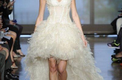 Vestidos de novia 2014 con faldas high low