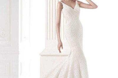 Vestidos de novia con tirantes para 2015: 25 propuestas que te encantarán