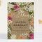 Invitaciones de boda en tendencia con flores multicolor - Foto Minted