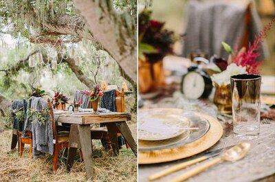 Herbstliche Dekoration für die Hochzeit