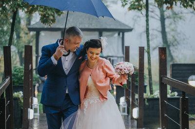 Szykowne wesele w plenerze i... strugach deszczu! Nie przegap niezwykłych emocji!