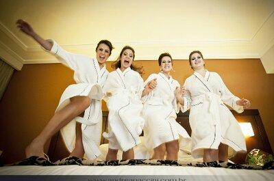 Dicas para a preparação da noiva: manter a calma com alimentação e companhia das madrinhas